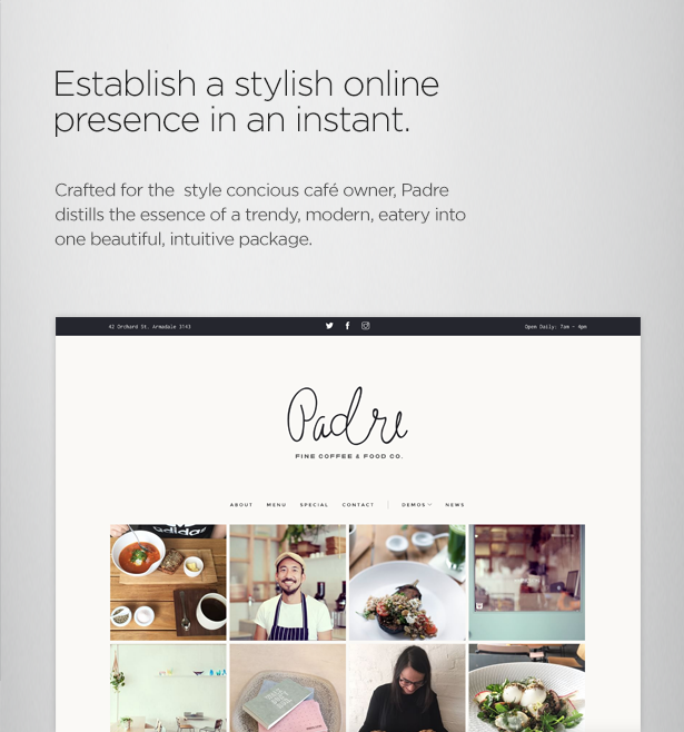 Padre - Cafe & Restaurant WordPress Theme - 5  Download Padre – Cafe & Restaurant WordPress Theme nulled padre